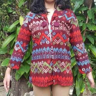 Blazer Batik - Maroon