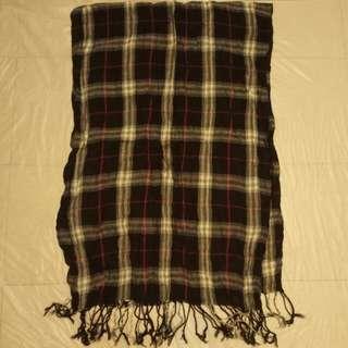 95%new 黑白長圍巾
