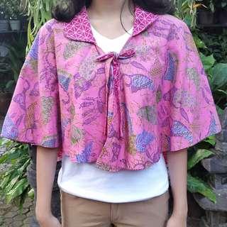Bolero Batik - Pink (Bolak-Balik)
