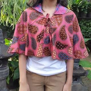 Bolero Batik - Dusty Pink (Bolak-balik)