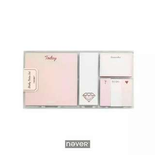 PO Never Sticky Notes Red Gold Edition