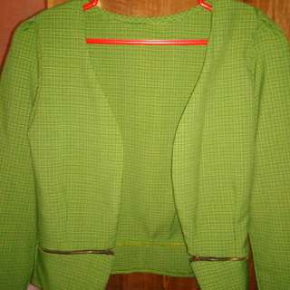 Green semi blazer no brand
