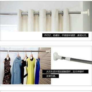 Multi function Telescopic Shower Curtain Rod