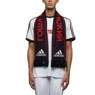 Gosha x Adidas scarf black red