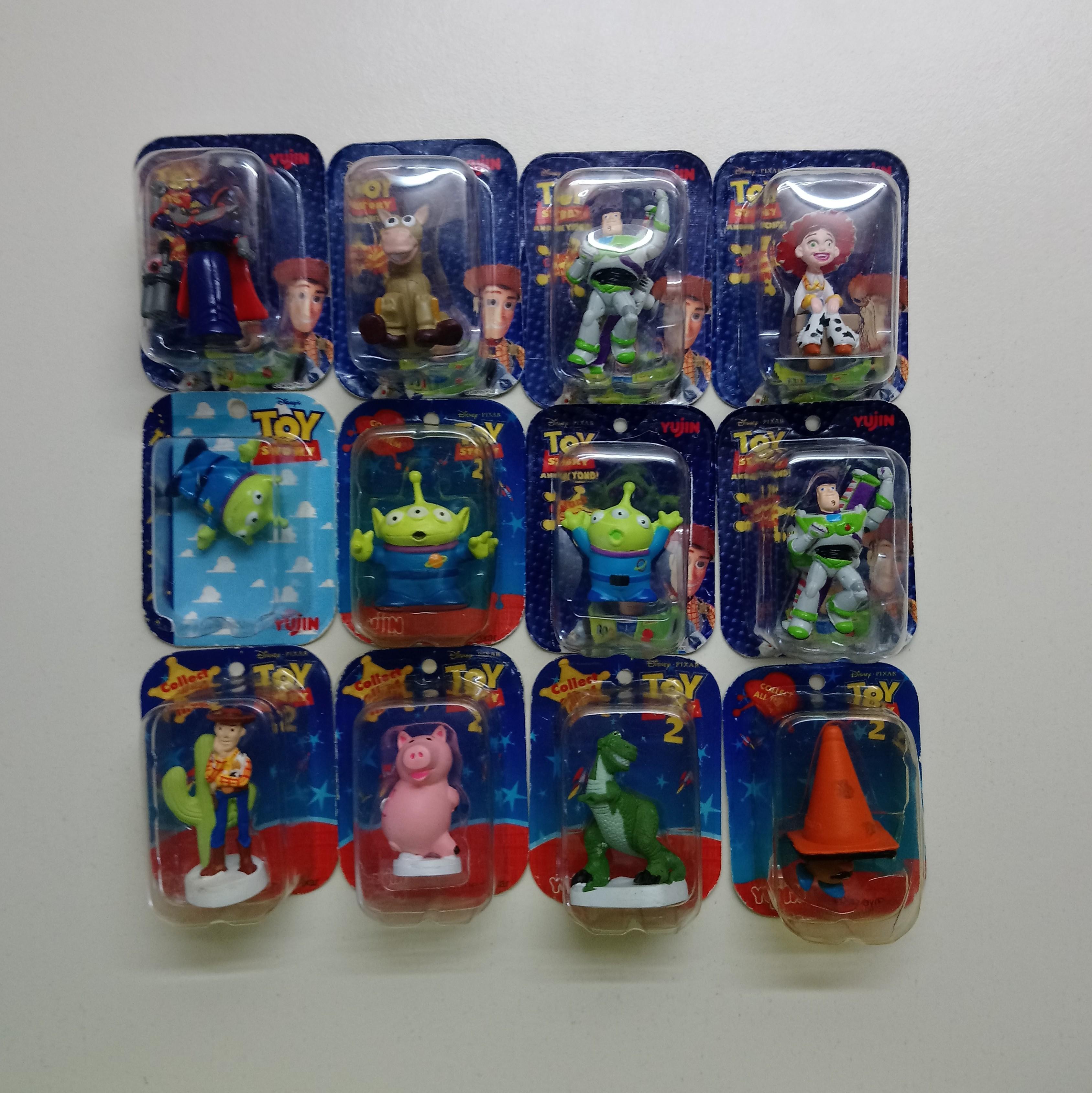 玩具總動員吊卡扭蛋13個合售 轉蛋