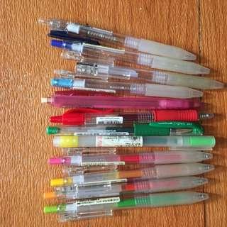 無印良品 三菱 彩色原子筆 筆殼文房具