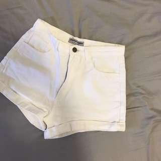 牛仔褲/ 白