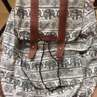 White bangkok backpack