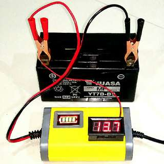 🌟Free Voltmeter🌟Motorcycle Battery Charger 💯BESTSELLER 🆕 STOCK