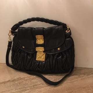 Miu Miu Classic black color leather bag