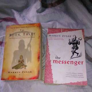 Markus Zusak  Book Thief I Am The Messenger  Meet ups by appointment: 9am-12pm MC letre, Rob malabon, hypermarket monumento, waltermart Munoz, sm north, sm San Lazaro  Addtl fee for shipping +60 ncr +130 province