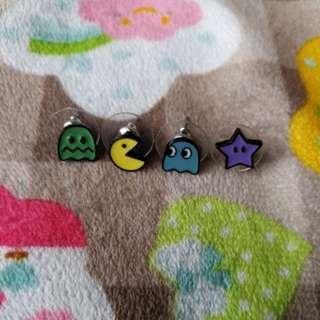 PacMan Earrings (4 designs in a set)