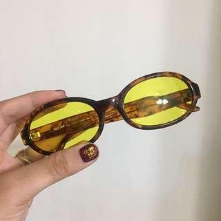 玳瑁色黃鏡片眼鏡