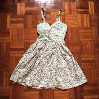 Mint Floral Dress in Size XS/S