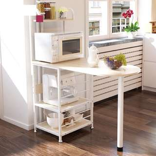 Kitchen / Dining Table w/ mini kitchen organizer