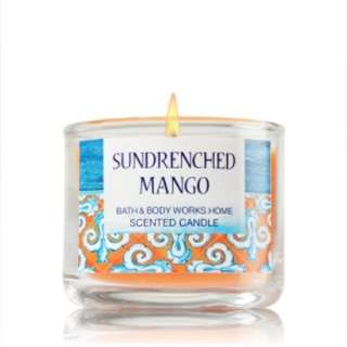 Bath and body works(BBW) Sundrenched mango scented candle