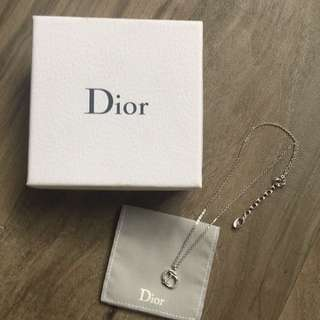 Christian Dior Necklace and CD Pendant