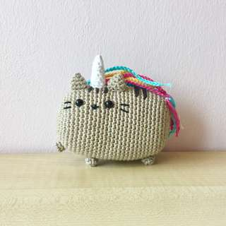 Pusheenicorn (with desired name tag or short message tag)