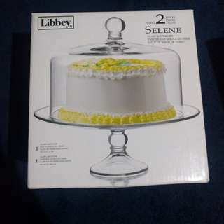 Libbey Cake Stand with Dome