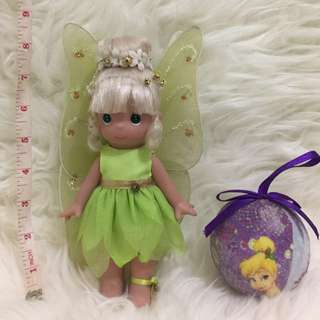 Precious Moments Tinkerbell Doll and Christmas Babble