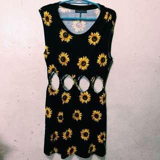 Pacsun's Kendall & Kylie Sunflower Dress