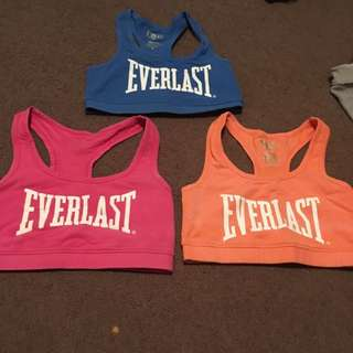 Women's everlast sports bras x 3