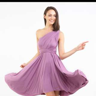Intoxiquette multiway dress in lavender