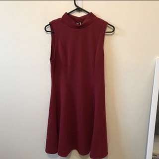 Berry swing dress size 14
