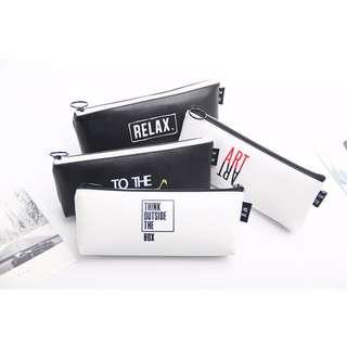 預購 韓版 筆袋 學生 簡約 鉛筆袋 皮質 小清新 鉛筆盒 大容量 創意 學習 文具盒 PU材質