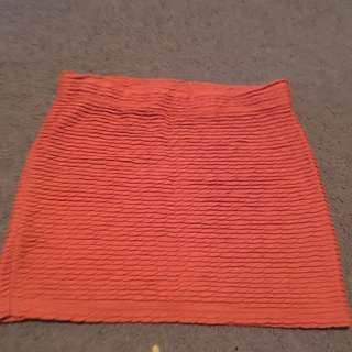 Women's orange mini skirt - size xs factorie
