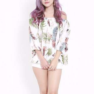 (INSTOCK) Tropical Leaves Offsie