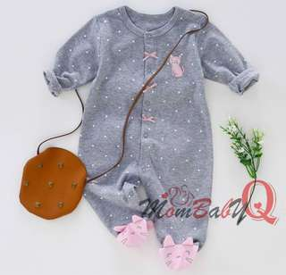 Lovely Pink Kitty Baby Girl's Jumpsuit