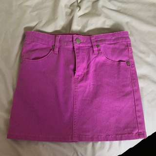 Neon Purple Miniskirt (the Lost Girls)