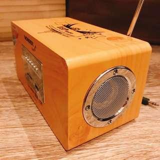 全新-復古木製質感音響 USB /MP3/ FM/SD 可外接電腦電視等