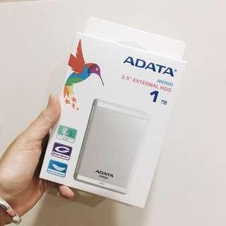 全新⚡️威剛Adata 行動硬碟 USB3.0 1TB (HV100) 白