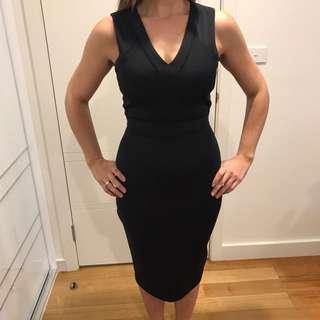 Seed dress size 8 black midi