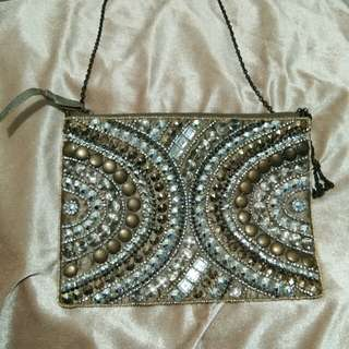 Parfois Bejeweled Pouch bag with sling
