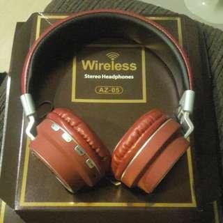 New(Red)- AZ-05 Wireless stereo headphones