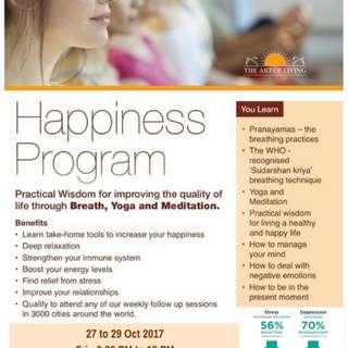 Wellness and meditation program