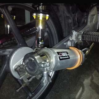 Open pipe dbs, grab bar, cdi for wave, pront shock
