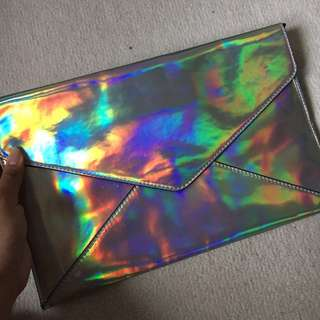 FOREVER 21's Hologram clutch