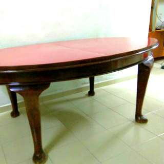 Oval Shape Table Solid Wood