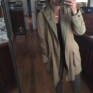 *REDUCED 30$* Zara Hooded Coat Size S