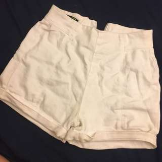 澳洲品牌 白色高腰短褲
