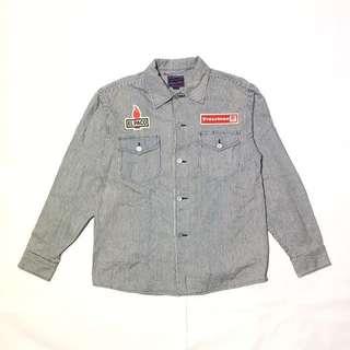 Vintage Japanese workwear denim shirt jacket