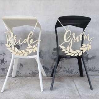 Bride & Groom words for rent