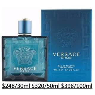 [原裝正貨30/50/100ml]全新Versace Eros pour homme EDT Perfume 凡賽斯 男性淡香水 噴嘴SPRAY