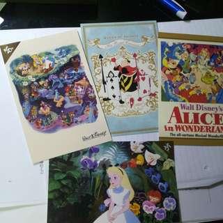 日本 迪士尼 愛麗絲 明信片 名信片 Disney Alice postcard post card