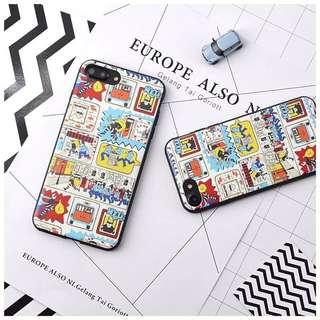 現貨💓 iPhone 8/8plus/7/7plus 手機殼 6plus/6s plus 警察抓小偷 插畫