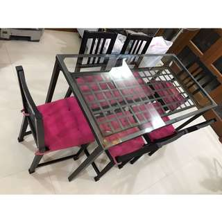 (Reduced price!!) $99 Ikea Granas Dining Table (6 dining chairs FOC)